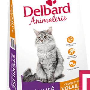 Croquettes Chat Sterilisé Delbard Volaille 5Kg