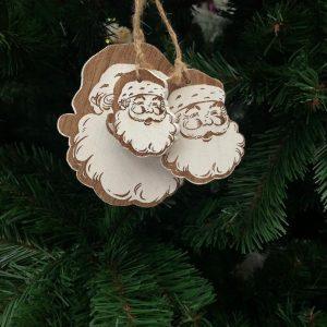 3 Suspensions de Père Noël