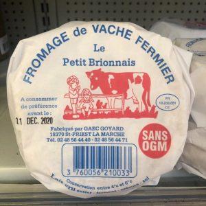 Fromage de vache Fermier Le petit Brionnais