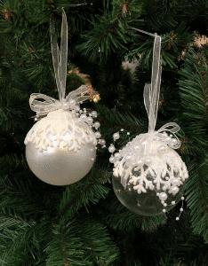 Boule de Noël Blanche