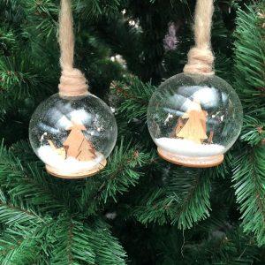 Boule de Noël Verre Transparente