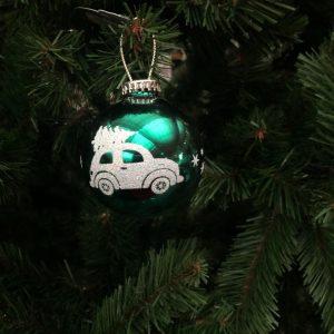 Boule de Noël Voiture Verte