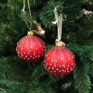 Boules de Noël Rouge