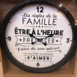 Horloge la vie en famille